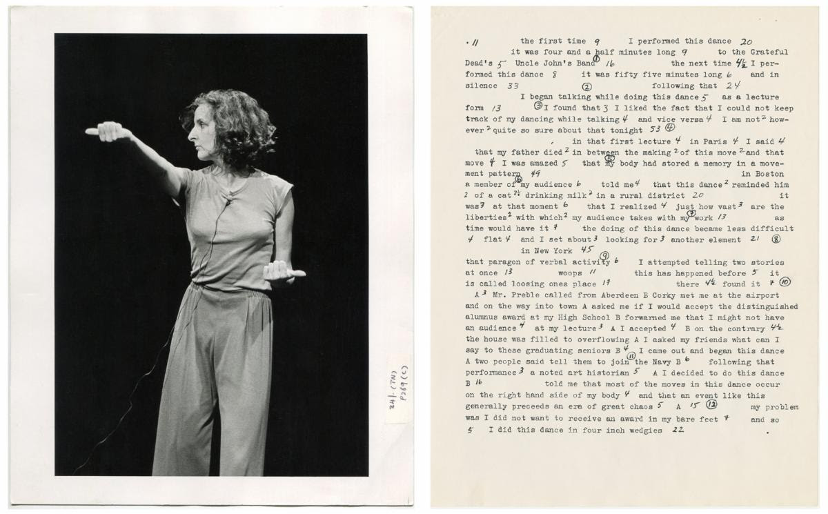 Trisha Brown's archive at Lincoln Center
